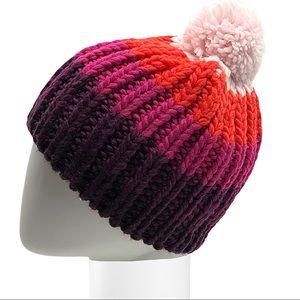 Accessories - Rainbow Pom-Pom Knit Hat